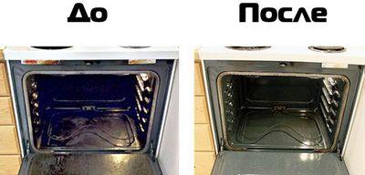 Как отмыть духовку внутри