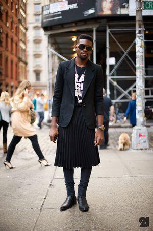 Мужчина в юбке: почему это нормально