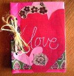 Подарки на день валентина. блокнот ручной работы