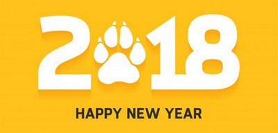 Прикольные плакаты на новый 2018 год собаки примеры стенгазет и шаблоны для распечатки